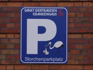 Storchenparkplatz | Sankt Gertrauden-Krankenhaus